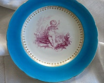 Antique Minton Plate Antique Minton Cherub Minton Cabinet Plate Antique Cherub Plate Valentines Gift Cherub Plate Antique Minton China