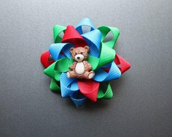 Corduroy themed bow