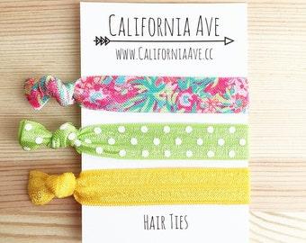 West Palm Flamingo Hair Tie Set of 3