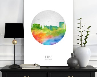 home decor stores boise idaho boise skyline etsy 12440