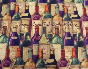 Packaged Wine Bottles Fabric~Susan Winget~By the 1/2 yard~Springs Creative~CP32471