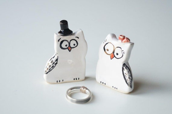 personalised ceramic wedding cake toppers ceramic wedding cake topper owl cake topper ceramic by 18209