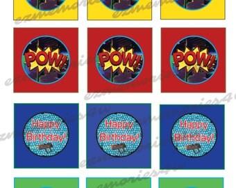 Fun Laser Tag / Gun CUPCAKE Toppers or Food Picks in Hi-Res JPEG Format.