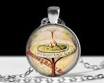 Yggdrasil pendant, The World Tree necklace, Icelandic jewelry, nordic mythology, norse pendant #330