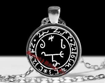 Beelzebuth sigil pendant, Beelzebub necklace, Grimoirium Verum, satanic jewelry, occult talisman, ritual lamen, summoning demons #124.3
