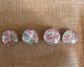 Floral Glass Fridge Magnets