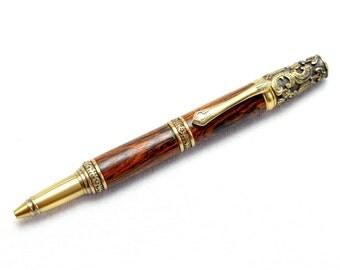 Victorian Antique Brass Twist Pen