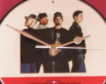 "East 17 West end girls 7"" picture disc record clock"