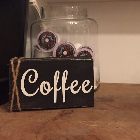Kitchen Coffee Signs: Coffee Sign Coffee Bar Sign Rustic Coffee By CozyHomeWreaths