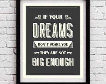 Quote Typographic poster - Quote art - Inspirational print - Typography print - Typographic wall print - Quote poster - Typography - Retro