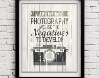 Retro Camera Typography Poster, Camera Quote, Retro Camera Inspirational print, Typography print, Retro Camera Wall Decor, Photo Retro Print