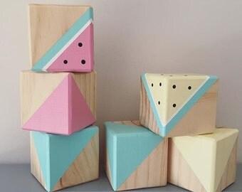 Watermelon Blocks, Set of 3