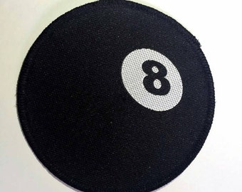 Eight Ball Vintage Sew On Circle Patch