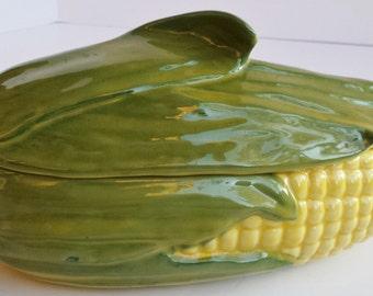 Shawnee Corn Ceramic Lidded Casserole Dish