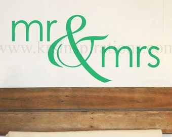 mr & mrs wall decal