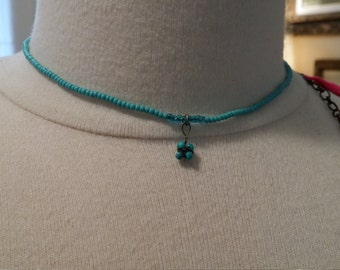 Sweet Turquoise colored bead necklace
