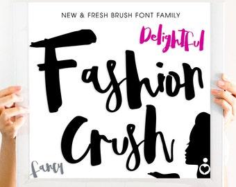 Fashion Crush Brush 50%OFF Font Download Digital Fonts