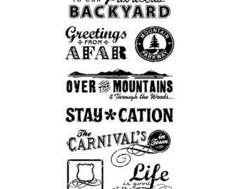 "Inkadinkado ""Travel Words"" - Clear stamps - Travel"