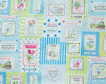 Floral Label Fourson Collection F826104 of Yuwa Half Yard