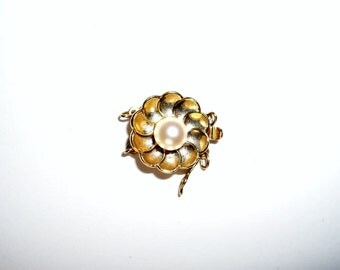 Pearl Clasp, 2 Strand, 14K Yellow Gold, Cultured Pearl, Bracelet, Necklace, Vintage