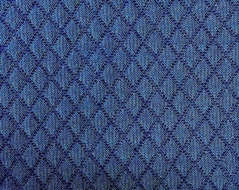 Blue Quilted Upholstery Fabric