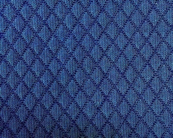 Blue Diamond Quilted - Upholstery Fabric by the Yard