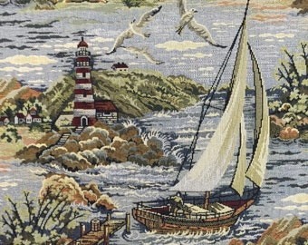 Sail Away - Upholstery Fabric By The Yard - Tapestry Upholstery - Nautical