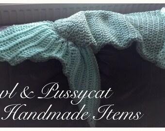 Handmade Crochet Mermaid Tail blanket/cocoon/bag/wrap/girls/childs