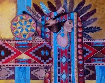 Batik, Painting on fabric Ethno