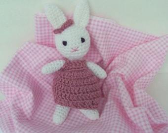 Amigurumi Rabbit Face : Crocheted bunny face Etsy