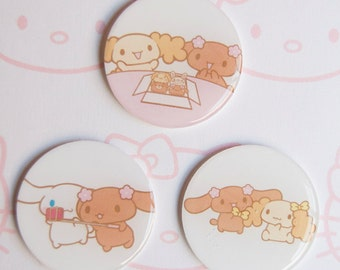 Pack of three Cinnamoroll and friends Brooches     シナモロール  