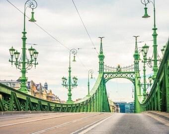 Budapest Photography - Liberty Bridge - Travel Photography  - Fine Art Photography - Budapest Print - Photography - Wall Art