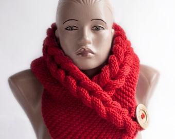 Hooded Scarf. Scarf. Hood, scarf hooded, Chunky scarf, Wool cowl, LoveKnittings