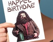 Funny Birthday Card | Harry Potter Card | Happee Birthdae Gift For Parents Birthday For Her Happy Birthday Card Philosophers Stone Hagrid