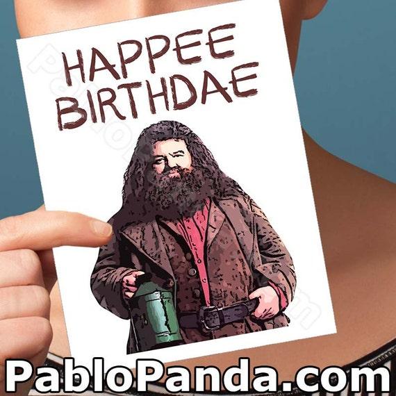 funny birthday card harry potter card hagrid hogwarts