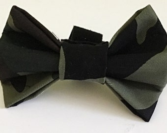 Army Green Camouflage Bow Tie for Dog or Cat