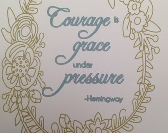 Courage, Wall Art, Lettering