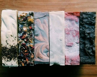 Choose any 6 Bars of Soap for 30 DOLLARS! - Natural Soap, Handmade Soap, Vegan Soap, Beer Soap, Tea Soap, Charcoal Soap, Gifts For Women