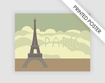 Printed poster Eiffel tower Paris, illustration Paris Eiffel tower, wall decor, A4, Letter, A3, Ledger/Tabloid, A2, Medium