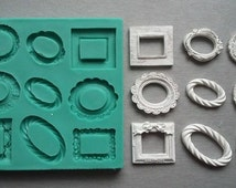 Silicone Mould / SMALL FRAMES / Sugarcraft Cake Decorating Fondant / fimo mold