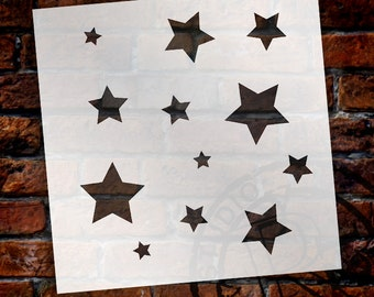 "Little Stars Stencil- 6"" x 6"" - by StudioR12 -STCL482"