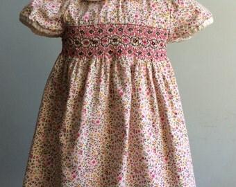 Vintage Girl's Smocked Dress, Vintage Youngland Dress