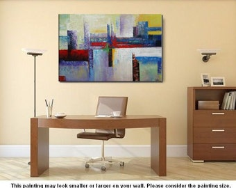 Large Oil Painting, Abstract Art, Large Art, Large Painting, Canvas Art, Canvas Painting, Living Room Art Decor, Abstract Landscape Art