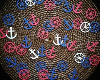 Nautical Confetti, Anchor Confetti, Nautical Decor, Nautical Baby Shower, Nautical Wedding, Nautical Table Scatter, Nautical, Nautical Party
