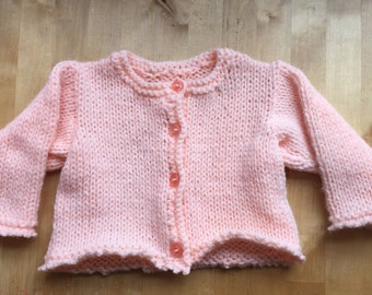 Hand knitted chunky cardigan size 22