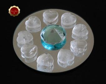 Clear Quartz Heart, Clear Quartz Mini Heart, Crystal Healing, Gemstone Hearts, Amplifies Energy, Meditation, Pocket Heart, Master Healer