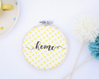 embroidery hoop wall art, home hoop art, home decor, gallery wall art, embroidery hoop art, housewarming gift, hostess gift, fabric wall art