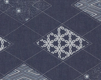 Diamond Arcuate in Indigo DEN-P-1003, Denim Prints by Art Gallery Fabrics