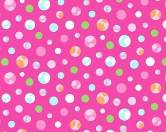 Marcus Fabrics Girly O Saurus Spots Pink (Half metre)
