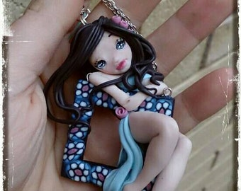 Necklace handmade with cute doll